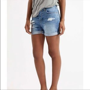 Topshop Hayden Distressed Shorts